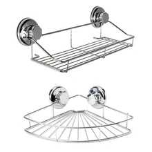 Bathroom Shelf Storage Rack Stainless Steel Shelf Punch Free Firm Shower Kitchen Fitted Wall Storage Organizer Rack