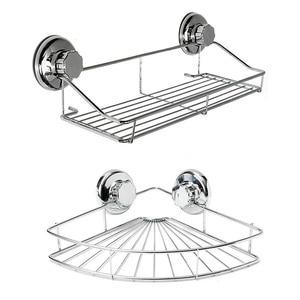 Image 1 - Bathroom Shelf Storage Rack Stainless Steel Shelf Punch Free Firm Shower Kitchen Fitted Wall Storage Organizer Rack