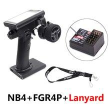 Flysky FS NB4, control remoto por radio de 2.4G 4CH, transmisor de automóvil de control remoto, con receptor FGR4P, pantalla a color TFT de 3.5 pulgadas, para barco de coche RC