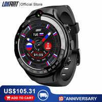LOKMAT Lok02 4G Smart Degli Uomini della vigilanza del Android 7.1 MTK6739 1GB + 16GB 400*400 Schermo AMOLED 5MP + 5MP Doppia fotocamera GPS Smartwatch Per ios