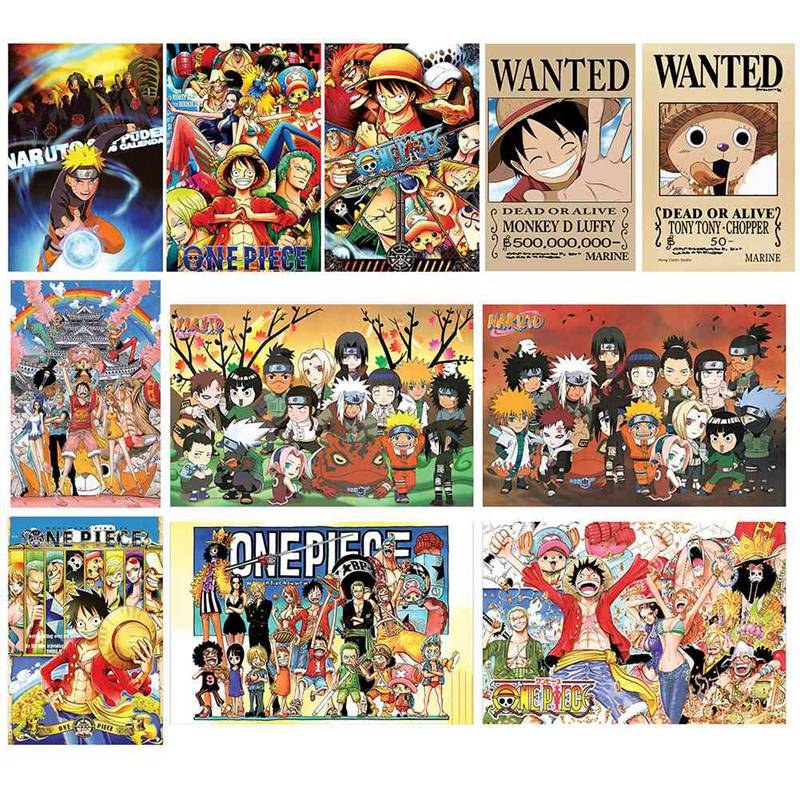 1000pcs/pack One Piece Anime Puzzles Toys Children Paper Jigsaw Educational Puzzles Toys For Kids Juguetes Brinquedos