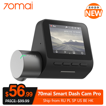 70mai Dash Cam Pro Smart Car DVR Camera 1944P GPS ADAS Speed Coordinates Night Vision WiFi DVR Voice Control 24H Parking Monitor