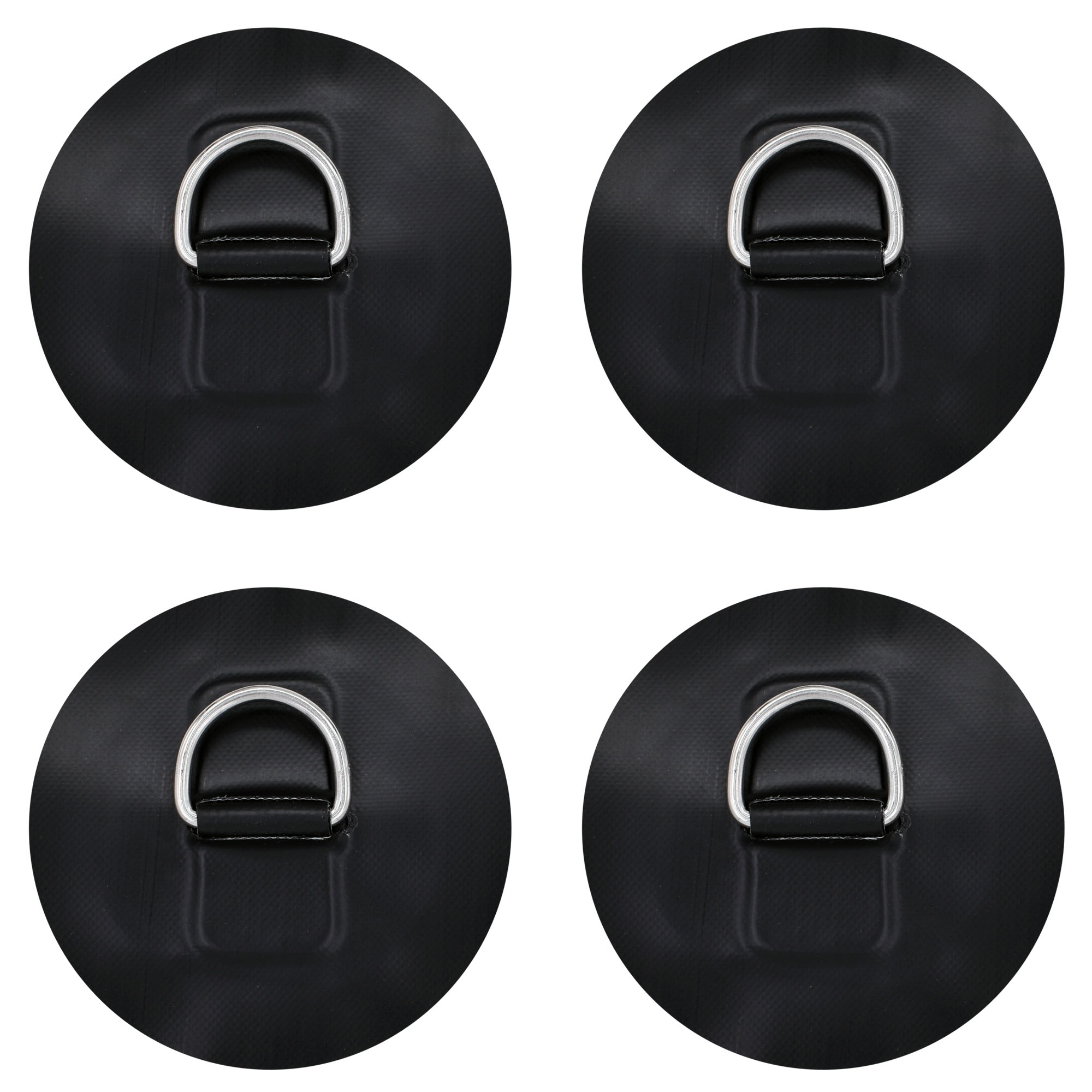 D Ring Patch For PVC Inflatable Boat SUP W Stainless Steel D Ring - NO Glue - Instruction Included