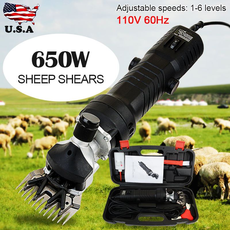 650W électrique mouton chèvre cisaille Machine 6 vitesse réglable cisaille tondeuse cisaillement coupe laine ciseaux