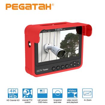 Nowy tester kamery monitoringu 4 3 #8222 tester kamery na nadgarstek przenośny tester kamery monitoringu HD wsparcie analogowe CVBS CVI TVI AHD 8MP automatyczna adaptacja tanie i dobre opinie PEGATAH 10-20 m 3 6mm 1 3 inch CMOS TI-N8V7 Ue wtyczka CCTV tester