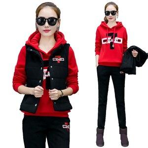 Image 5 - Plus rozmiar dres dla kobiet 2 sztuka zestawy 2020 pant garnitury i top bluzy stroje 3 sztuk sportsuits wysokiej jakości czarne ubranie