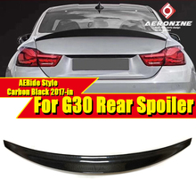 For BMW G30 M5 sedan duckbill Spoiler Carbon Fiber Ride style 5 series 520i 525i 530i 540i 550i wing rear spoiler M look 2017-in цены онлайн