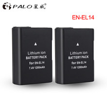 ENEL1 – batterie numérique li-ion EL14, 1200mah, 7.4v, pour Nikon D3100, D3200, D3300, P7100, P7200, P7800, séries D et P