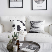 Morden National Ink Pillow Cover Black And White Dot Printing Throw Cushion Simple Art Home Sofa Soft Decoration 45x45