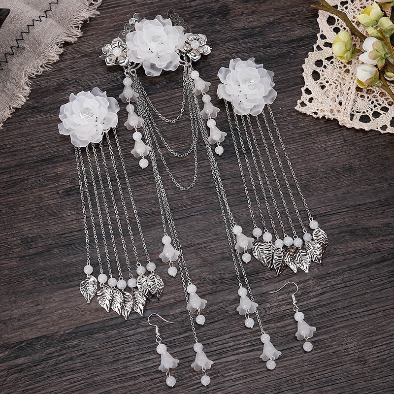 Retro Costume Headdress Han Chinese Clothing Headdress Cents Tassel Jewelry Hairpin Step Shake Fringed Hair Ornaments Antiquity