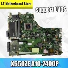 X550ZE Scheda Madre A10-7400P LVDS 2.5GHz Per For Asus K555Z A555Z K550Z X555Z scheda madre Del Computer Portatile X550ZE Mainboard X550ZE Scheda Madre