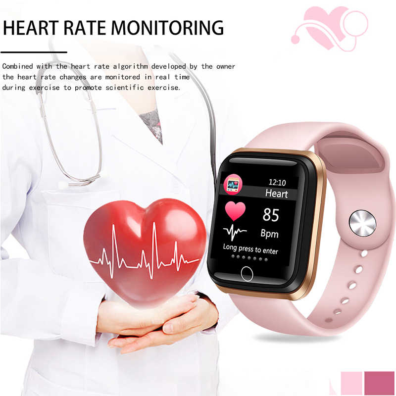 LIGE ساعة ذكية النساء الرياضة سوار ذكي IP67 مقاوم للماء ساعة عداد الخطى مراقب معدل ضربات القلب شاشة LED ملونة ل ios أندرويد