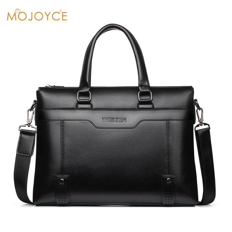 Fashion Simple Dot Famous Brand Business Men Briefcase Bag Leather Laptop Bag Crossbody Laptop Bag Travel Leather Handbag