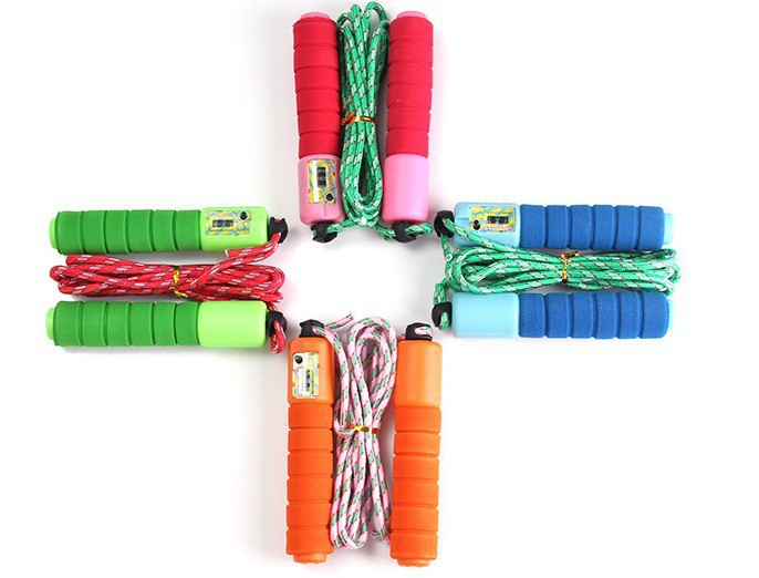 Cotton Binder Sponge Handle Count Jump Rope Students The Academic Test For The Junior High School Students Sports Supplies Outdo