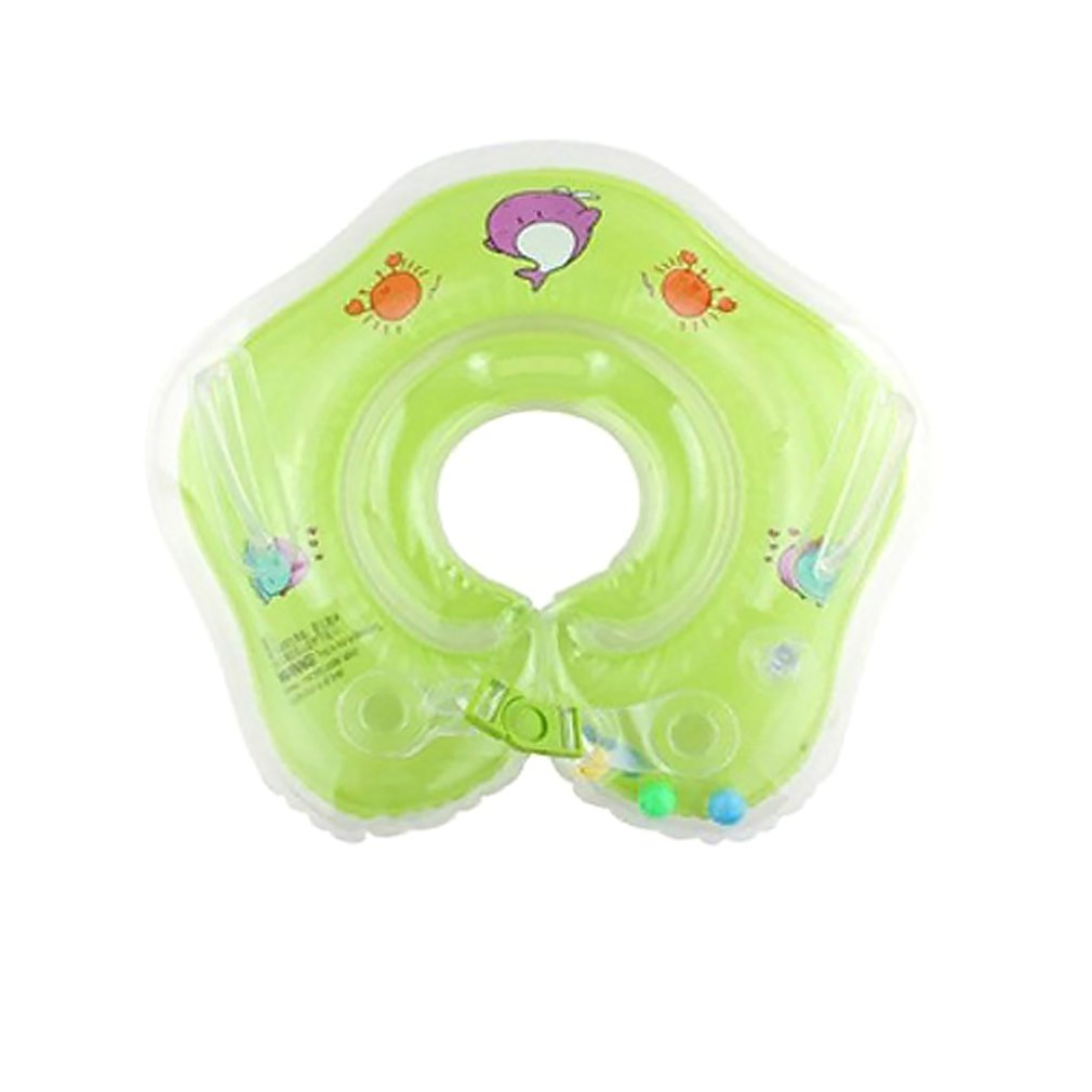 Thicken 0-2 Years Old Baby Swimming Neck Trumpet Children's Floating Ring Infant Swimming Ring Swimming Pool Accessories Relieving Rheumatism