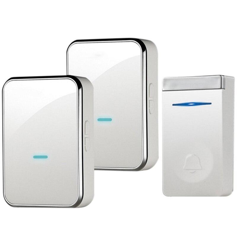 OPQ-Eu Plug Self-Generating Doorbell Wireless Smart Doorbell Long Distance One For Two Waterproof Without Battery Door Ling