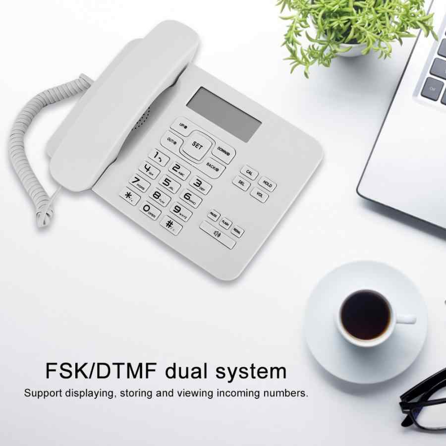 Office Telephone KX-T7001 FSK/DTMF Dual System Home Office Telephone with LCD Calendar Display White telephone portable