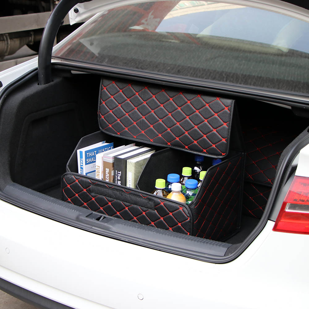 AUTO CAR BOOT ORAGANISER DURABLE FOLDING TOOLS DRINKS FOOD CARGO STORAGE BAG