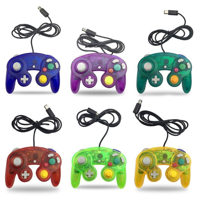 Wired Controller for Nintendo Wii Gamecube GC single point game vibration handle
