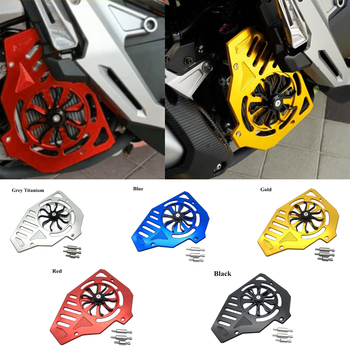 Modified Motorcycle PCX CNC rotate fan cover radiator guard grille coolant engine net for honda PCX125 150 CLICK125 150 ADV150 image