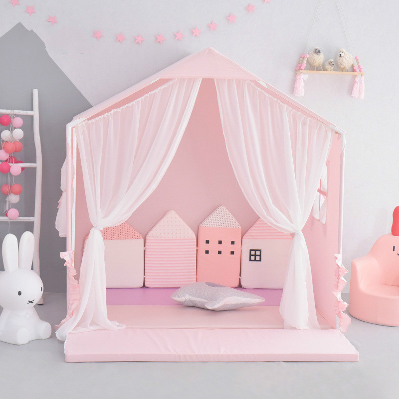 Children's Tent Room Game Girl's Sleeping Room Toy House Princess Kids Beds  Under 12 Years Old Children Furniture|  - title=