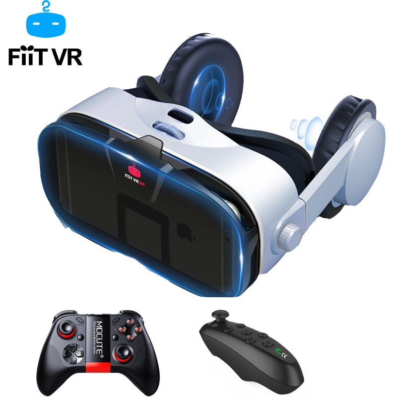 FiiT VR 3F Virtual Reality Glasses 3d Headset Google Cardboard Helmet Goggles Casque 3 D For 4.0-6.4 inch Phone Smartphone image