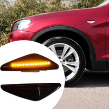 Flowing Turn Signal Lights Dynamic Car LED Side Marker Sequential Indicator Blinker For BMW X6 E71 E72 X5 E70 X3 F25 2 pieces led dynamic sequential side marker light flowing turn signal indicator for bmw x3 f25 x5 e70 x6 e71 activehybrid x6 e72