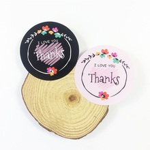 80 Pcs/lot Thanks I LOVE YOU Flower Design Sticker Labels Paper Stickers Scrapbooking Seals For Gifts