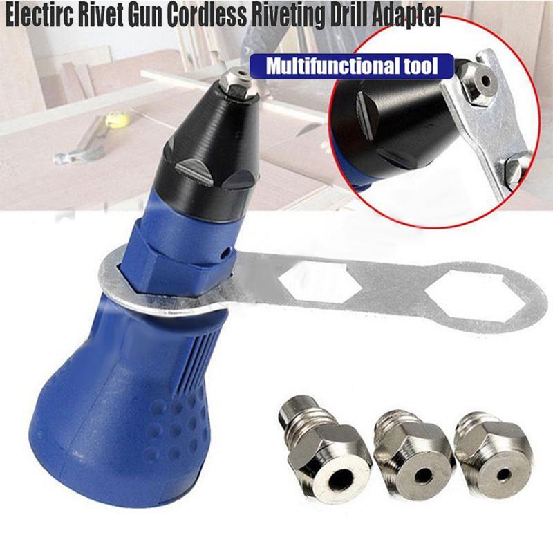 Rivet électrique écrou pistolet rivetage outil sans fil rivetage perceuse adaptateur Insert écrou outil rivetage perceuse adaptateur