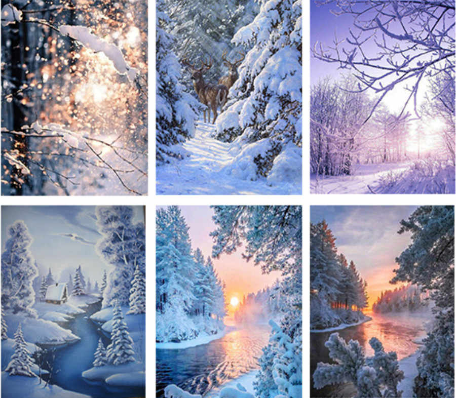 DIY Diamond Embroidery Winter Landscape Diamond Painting Home Decoration birthday present