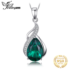 3.5ct  Emerald Pendant Necklace