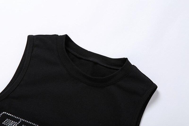 Новинка осени 2020 Модный женский комплект с бриллиантами облегающая