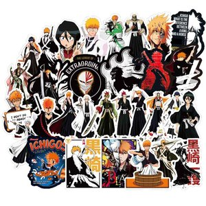 50Pcs/pack BLEACH Stickers Japanese Anime Stickers Japanese Manga For Laptop Case Car Motorcycle Skateboard luggage Guitar F4