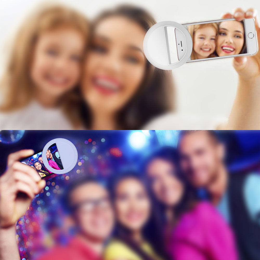 Pink 36LED Selfie Night Light With 3 levels Lighting Night For Cell Phone Photo Lights 5