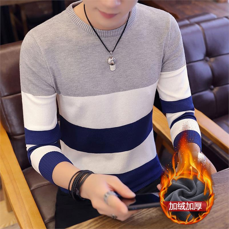 2019 New Autumn Winter Round Neck Pullover Men Slim Fit Knitted Sweater Pull Homme Jersey Hombre Mens Sweaters Fall Knitwear