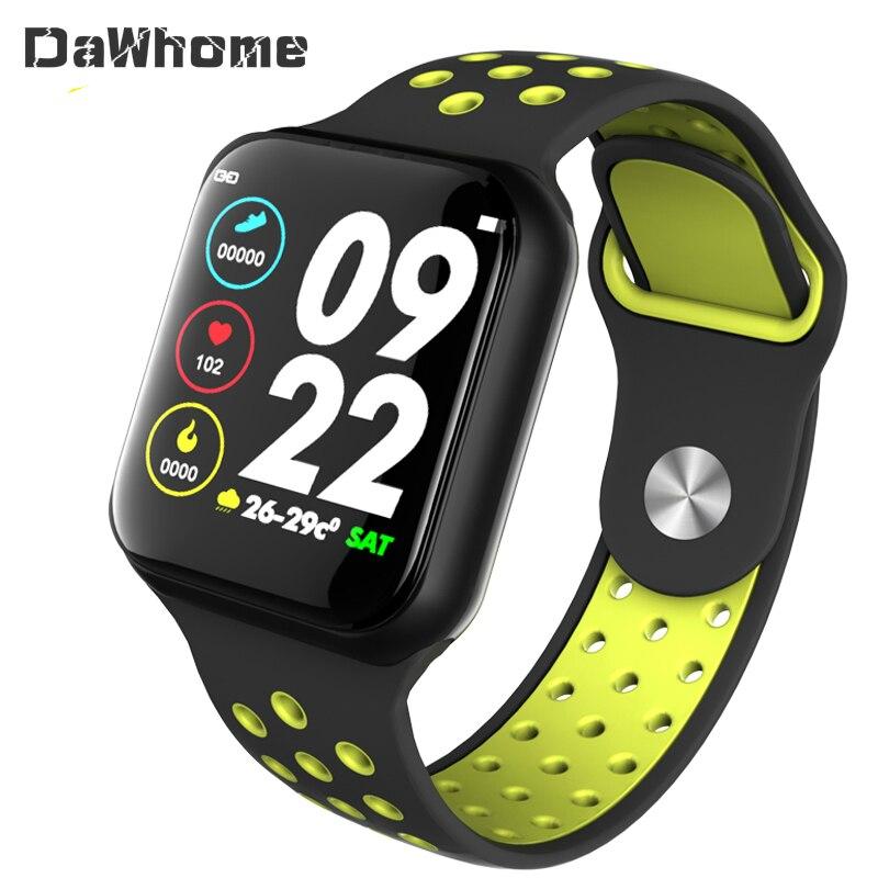 F8 Smart Watch Bracelet IP67 Waterproof Heart Rate Monitor Blood Pressure Fitness Tracker Women Men Sport Wearable Watch
