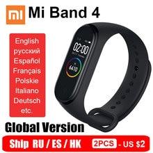 Globalna wersja Xiaomi Mi Band 4 inteligentna opaska Miband 4 bransoletka tętno Fitness kolorowy ekran Bluetooth 5.0 statek RU ES HK