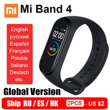 הגלובלי גרסת Xiaomi Mi Band 4 חכם צמיד Miband 4 צמיד קצב לב כושר צבע מסך Bluetooth 5.0 ספינה RU ES HK