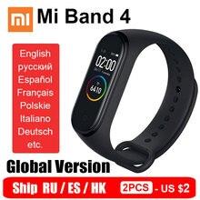グローバルバージョンxiaomi miバンド4スマートリストバンドmiband 4心拍フィットスクリーンbluetooth 5.0船ru es香港