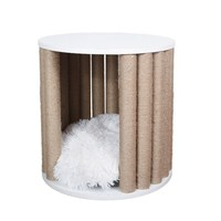 H1 New Cat House Pet Climbing Frame Furniture Grab Board Column Side Table Coffee Litter Bench Bedside