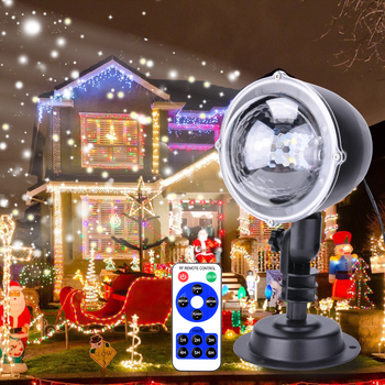 Outdoor Christmas Projector Lamp Snowing Projector Light  Landscape Garden indoor Decoration Remote Control Spotlight D30 12 type rgb led snowflake projector light garden landscape light lawn lamp christmas light outdoor holiday decoration spotlight