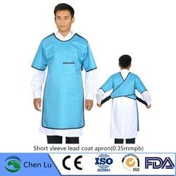 Genuine X-Ray Protezione Manica Corta Abbigliamento Ospedale, Laboratorio Applicabile Radiologica di Protezione 0.35 Mmpb Piombo Cappotto Grembiule