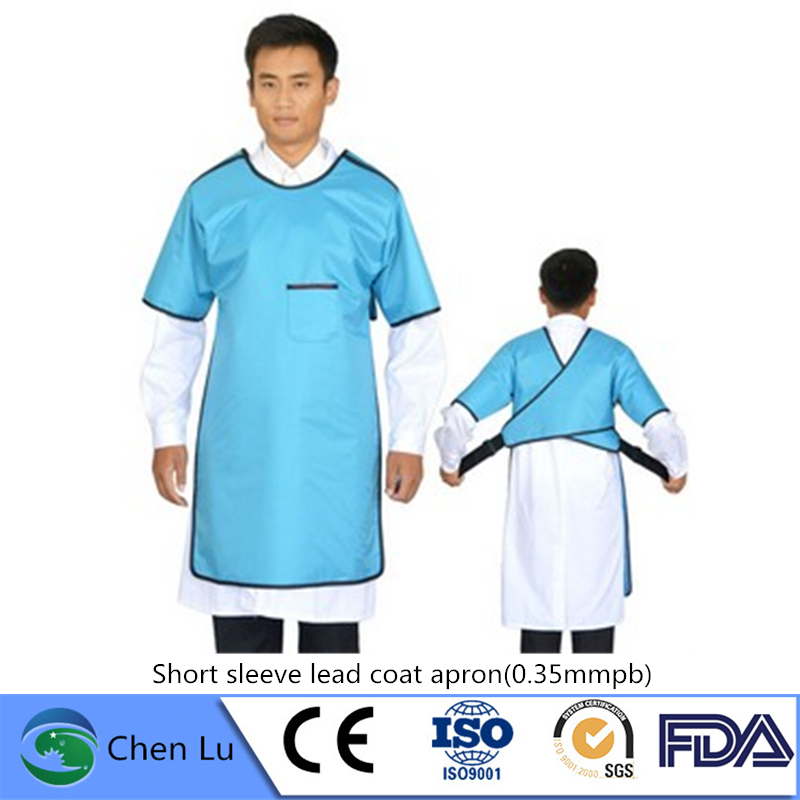 Genuine X-ray Protective Short Sleeve Clothing Hospital, Laboratory Applicable Radiological Protection 0.35mmpb Lead Coat Apron