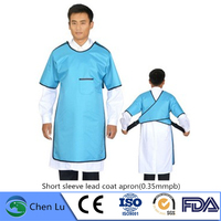 Genuine x ray protective short sleeve clothing Hospital, laboratory applicable radiological protection 0.35mmpb lead coat apron
