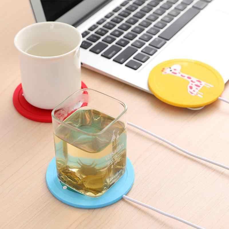 Siliconen Usb Warmer Gadget Cartoon Verwarming Coaster Voor Melk Koffie Mok Warme Dranken Drank Cup Mat Heater Keuken Gereedschap