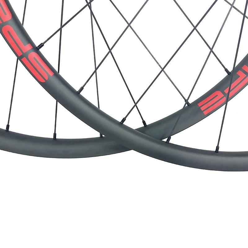 Image 5 - 29er MTB XC 30mm asymmetric carbon wheels 22mm deep clincher tubeless wheelset Novatec D791SB D792SB XDR UD 3K 12K 24H 28H 32Hclincher tubelesscarbon wheels29er mtb -