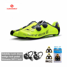 Riding-Shoes Sidi Sh11 Spd Sl Carbon Racing Scarpe-Ciclismo Self-Lock Ultralight