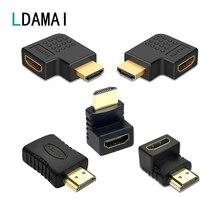 HDMI kablo konektörü adaptörü 270 180 90 derece sağ açı HDMI erkek HDMI dişi dönüştürücü dizüstü bilgisayar için PS4 genişletici çoğaltıcı