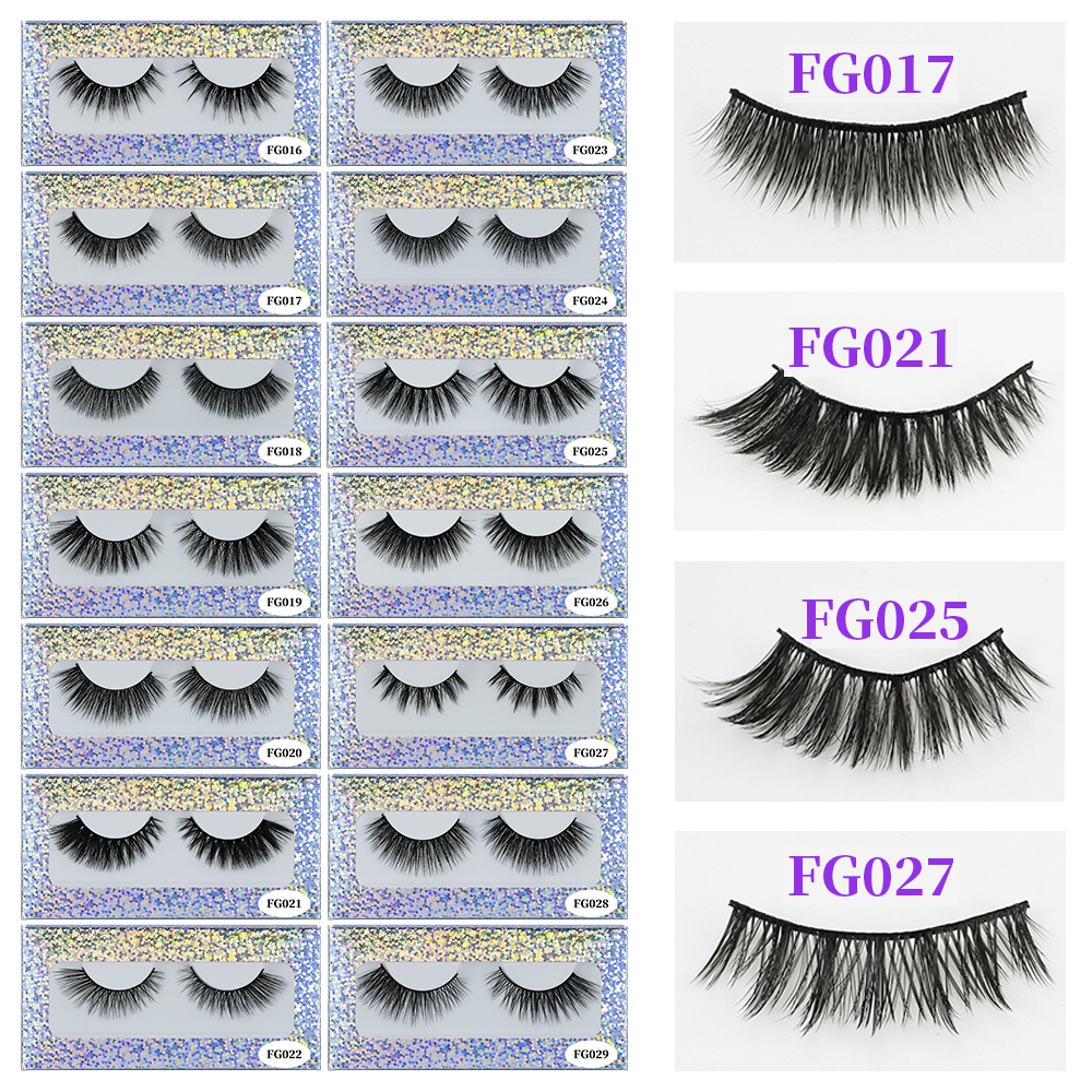 WOMELL Mink Eyelashes 3D Makeup False Eyelashes Full Strip Fake Lashes Fluffy faux cils Soft Maquiagem Eye lashes