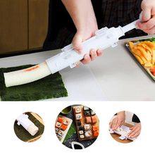 Fabricante de sushi rolo arroz molde ferramenta bento japonês bazooka vegetal carne rolando diy sushi que faz a máquina cozinha gadget